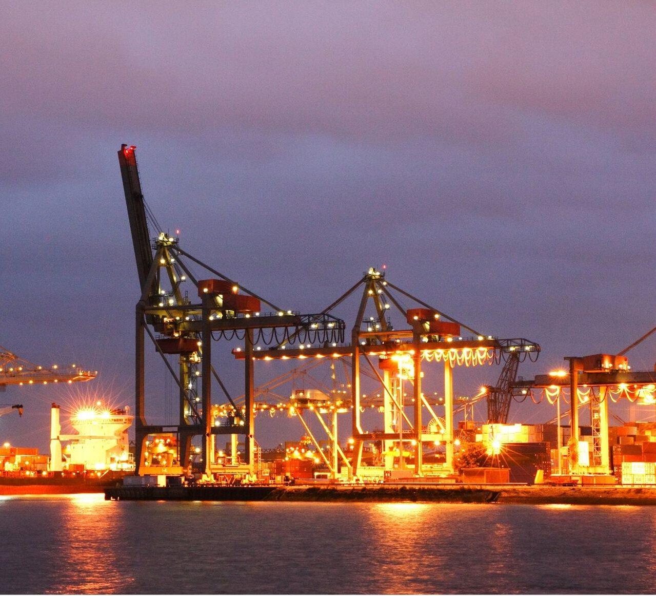 Transport containerterminal